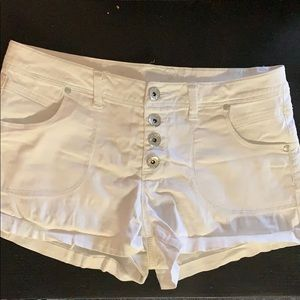 Rue 21 white jean shorts, low rise